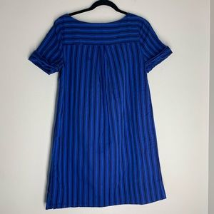 Anthropologie Dresses - HD in Paris Striped Cotton Dress Shorts Sleeves 4